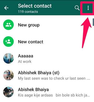 click on three dot icon