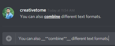 combine different text formats
