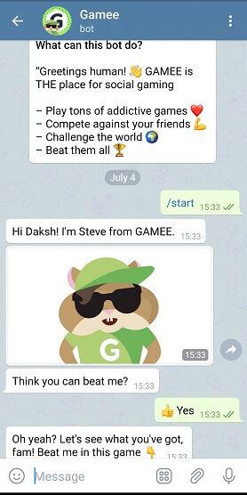 Best Telegram bots - gamee