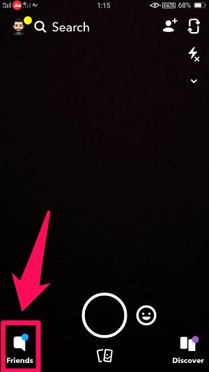 open snapchat friends list
