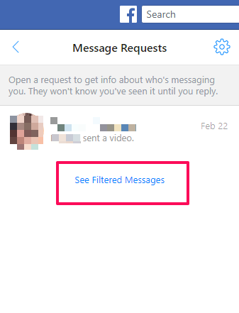 See filtered messages