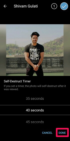 self destructing timer