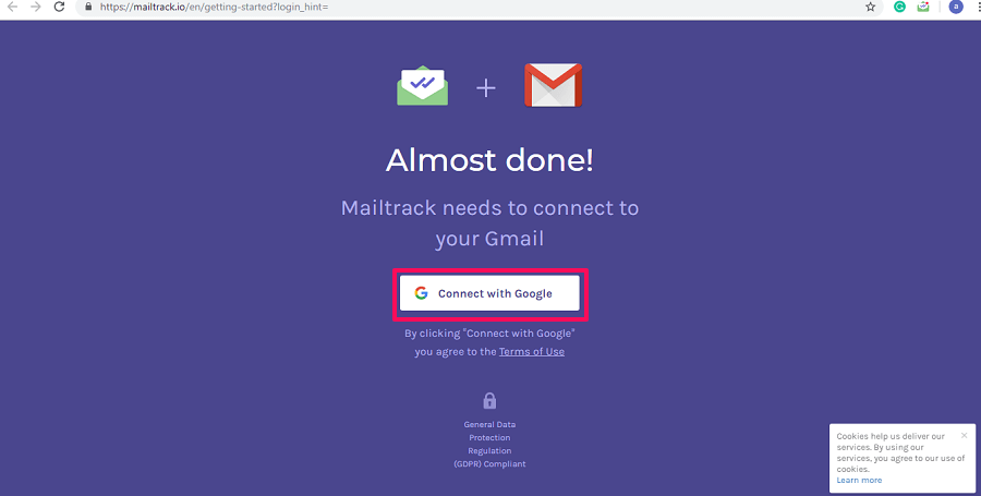 Connect MailTrack with Gmail