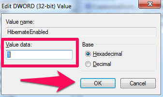 add or remove hibernate on Windows