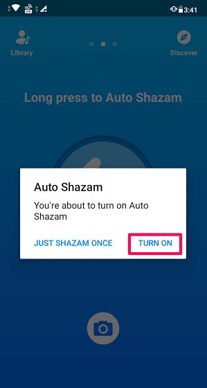 enable Auto Shazam