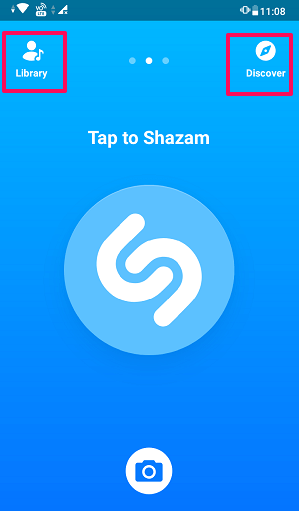 Shazam app interface