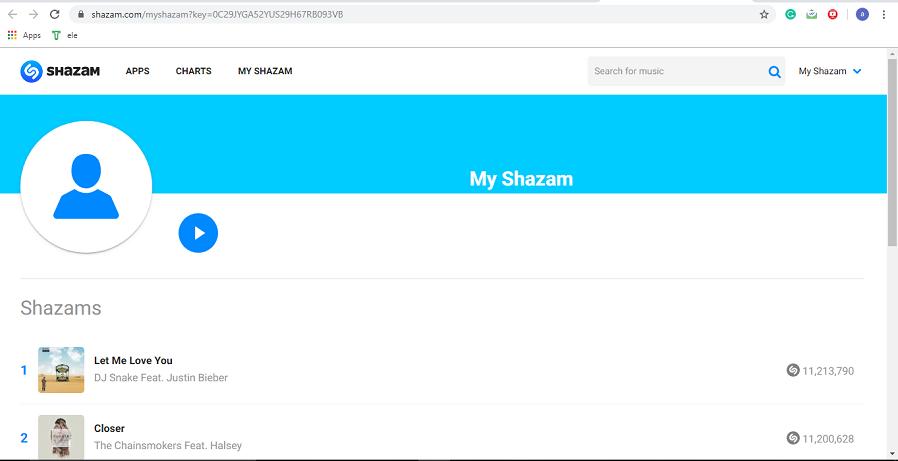 Shazam profile