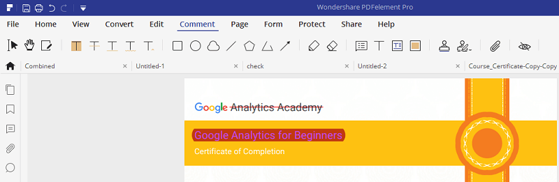 annotate or markup PDF