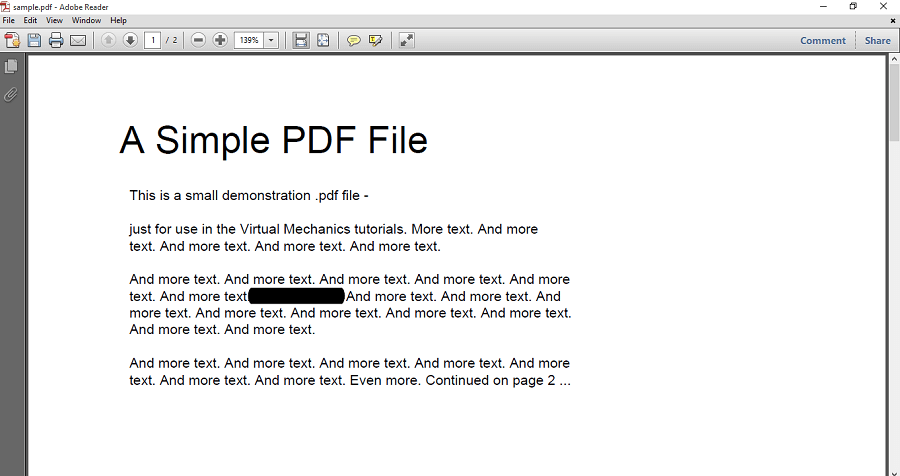 black out text in PDF Adobe Reader