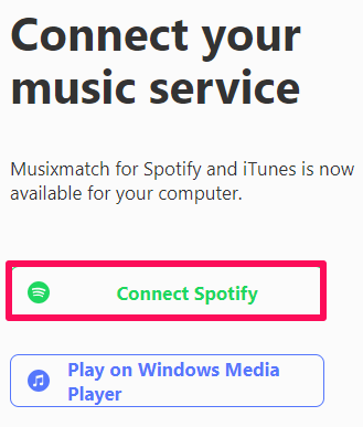 connect musixmatch with desktop spotify