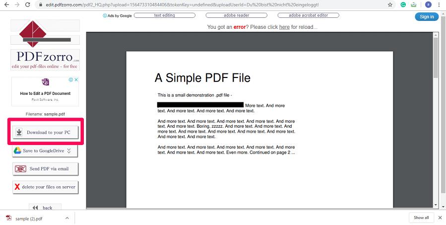 download redacted pdf file