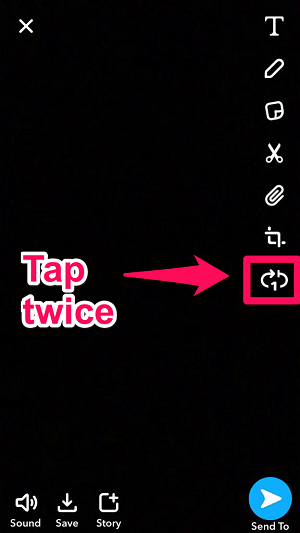 get the bounce option on Snapchat