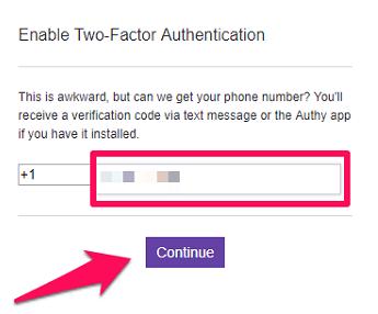 get verification code