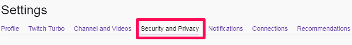 go to security and privacy tab