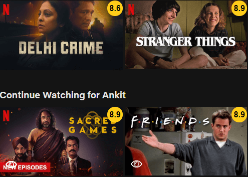 imdb ratings on netflix