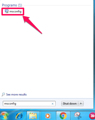 ms configuration in windows 7