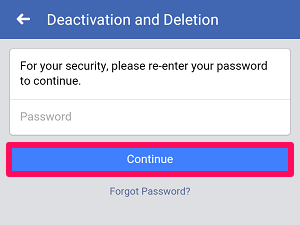 provide password for security
