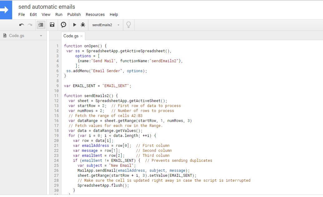 paste script in script editor