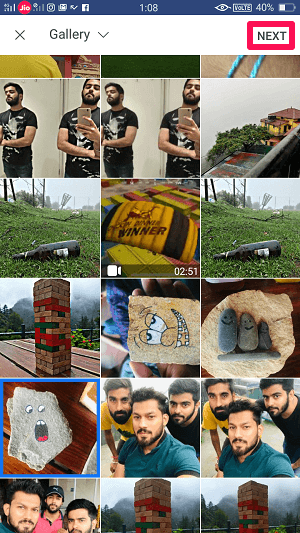 select photos for story