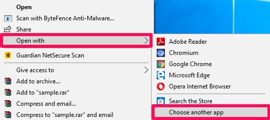 set Chrome as default program for PDF files