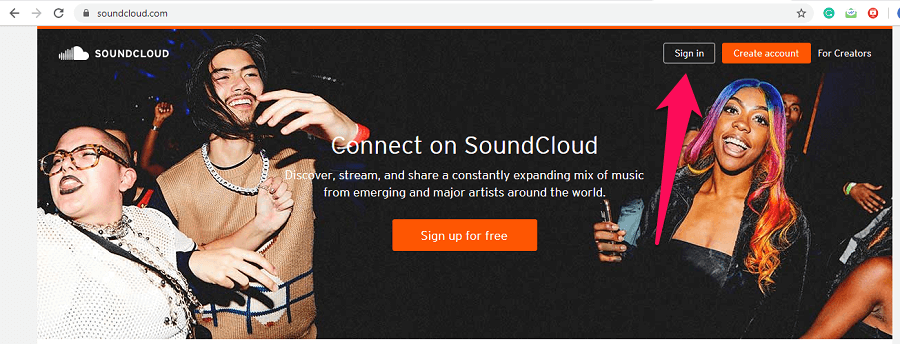 soundcloud homepage