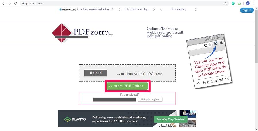 upload files to pdfzorro