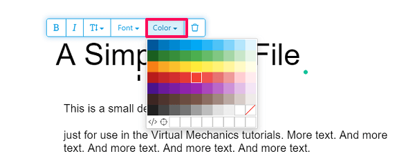 Change the text color online