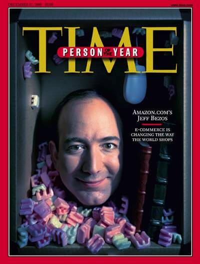Jeff Bezos on the cover of Time magazine