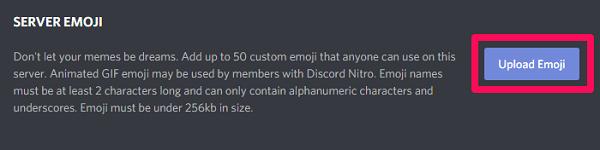 add custom emojis on discord