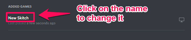 change name of the game on Discord