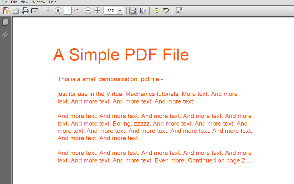 changed PDF text color