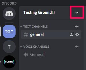 discord server menu
