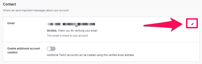 edit your email address