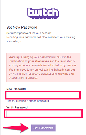 give a new password