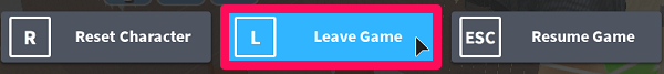leave game on Roblox in full screen
