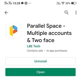 parallel space for cloning app