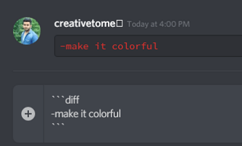 red color on discord