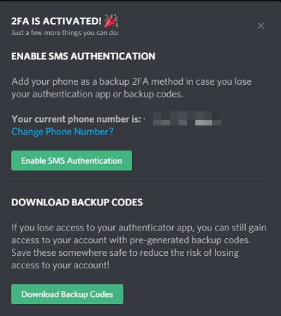 2FA code alternatives