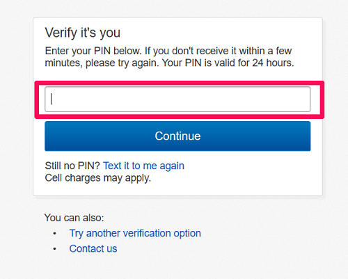 4 digit PIN