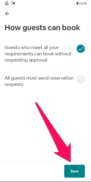 how to turn off instant booking on Airbnb app