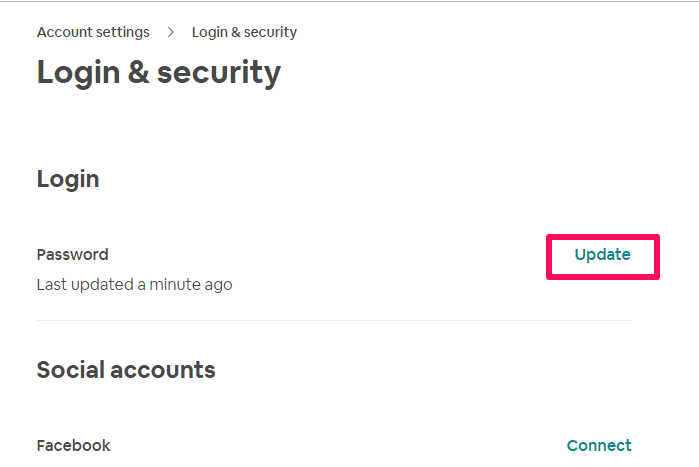 Login and security