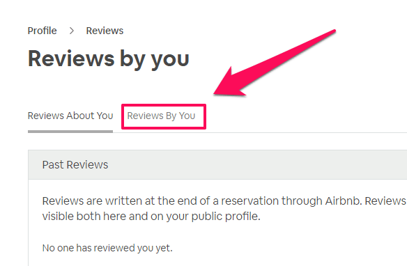 how to leave a review on airbnb