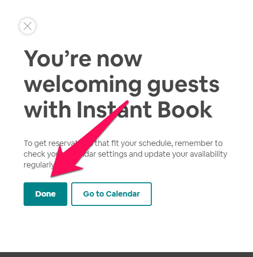 disable Airbnb instant booking