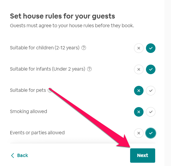 Set rules for guest