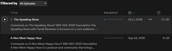 fix Spotify podcasts not working
