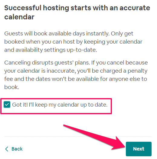 calendar airbnb