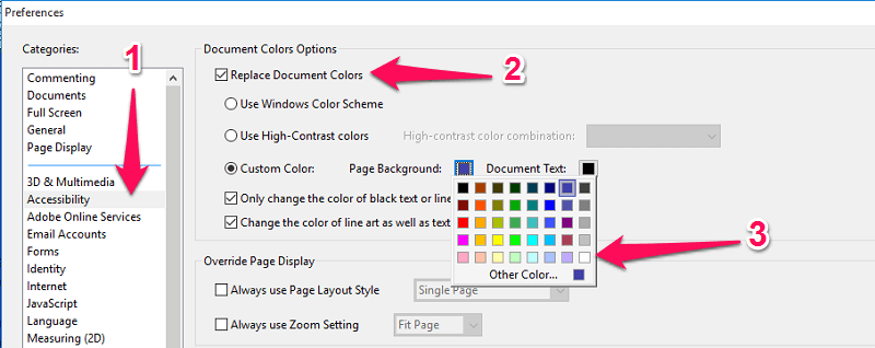 change pdf background color to white