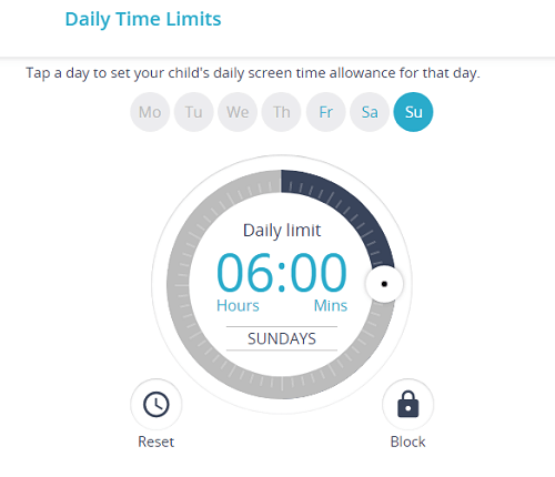 daily time limit