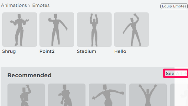 get emotes in Roblox