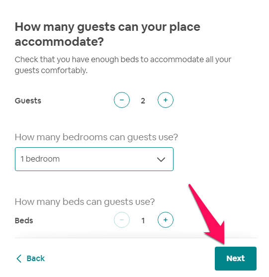 number of guests